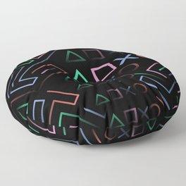 Playstation Buttons Maze Lines Floor Pillow