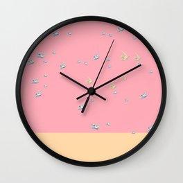 fly away at sundown Wall Clock