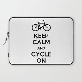 Keep Calm and Cycle On Laptop Sleeve
