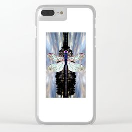 Transcending Dragonfly Clear iPhone Case