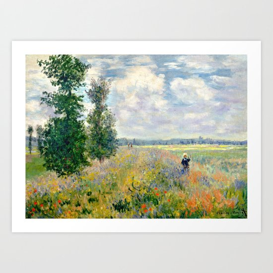 Poppy Fields near Argenteuil by Claude Monet by vintage_archive