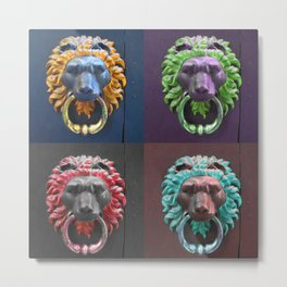 Lion Knockers Metal Print