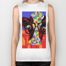 Spectacled Cow Biker Tank