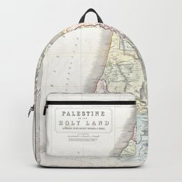 Old 1852 Historic State of Palestine Map Backpack