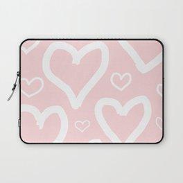Millennial Pink Pastel Hearts Laptop Sleeve