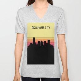 Oklahoma City Skyline Unisex V-Neck