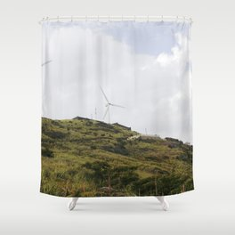 Nostalgia-On The Mountain Shower Curtain