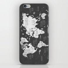 The World Map B/W iPhone & iPod Skin