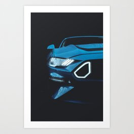 Mustang RTR Headlights Art Print
