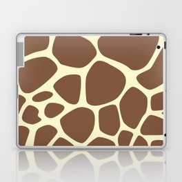 Animal Print (Giraffe Pattern) - Brown Yellow Laptop & iPad Skin