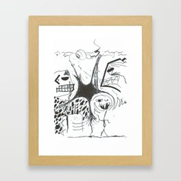Black Trips of the Corporate Kind WHT Framed Art Print