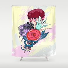 Chrysanth Wisteria & Lily - & Rose  Shower Curtain