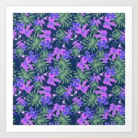 Tropical Floral Flower Pattern Art Print