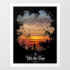 Sunset poster Art Print