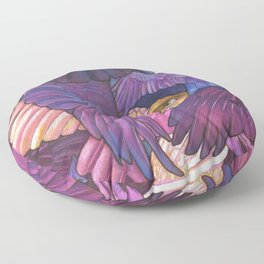 A Murder of Ravens Floor Pillow