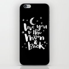 to the moon & back iPhone Skin