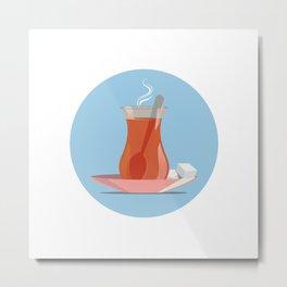 Turkish Tea Metal Print
