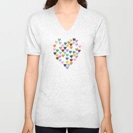 Hearts Heart Black Unisex V-Neck