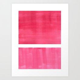 Colorful Bright Minimalist Rothko Pastel Red Pink Midcentury Modern Art Vintage Pop Art Art Print