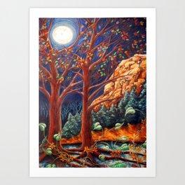 Autumn Full Moon Art Print
