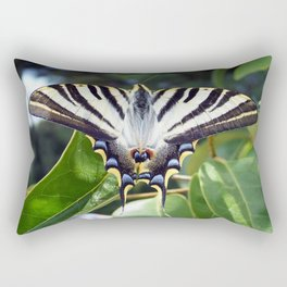 Swallowtail Buttterfly Resting on Oleander Leaves Rectangular Pillow