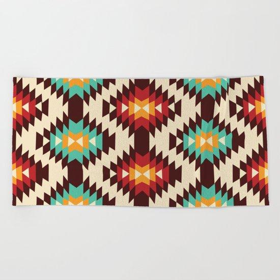 American native Pattern No. 19 Beach Towel