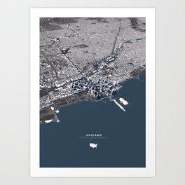 Chicago II - city map Art Print