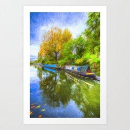 Regents Canal Art Art Print