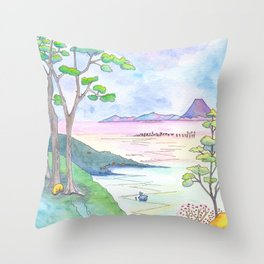 A Japanese Sight Throw Pillow