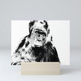 Gorilla In A Pensive Mood Portrait #decor #society6 Mini Art Print
