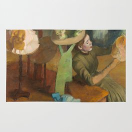 Edgar Degas - The Millinery Shop Rug