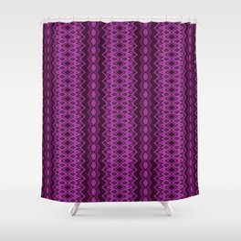 Blueberry stripes Shower Curtain