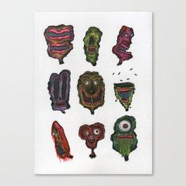 Ghoul Head Gallery Canvas Print