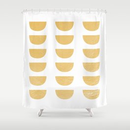 Lena Gold Half Moon Abstract Shower Curtain