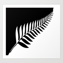 Silver Fern of New Zealand Art Print