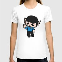 spock T-shirts featuring Spock by Ziqi