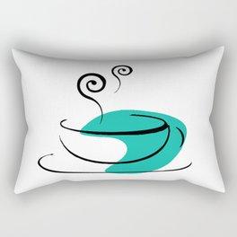 Mocha in Teal Rectangular Pillow