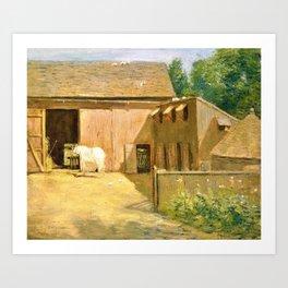 Julian Alden Weir - New England Barnyard - Digital Remastered Edition Art Print
