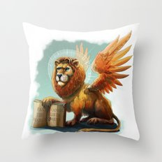 Winged Lion the symbol of Venice Throw Pillow