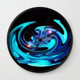 """Cut Blue Diamond""  Wall Clock"