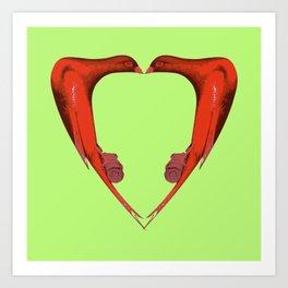 Lovebirds 1 Art Print