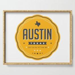 Austin Texas City Badge Serving Tray