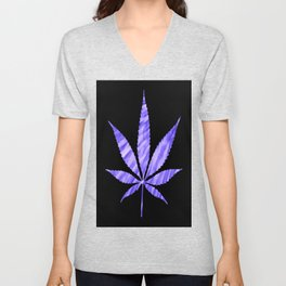 Weed : High Times Purple Blue Unisex V-Neck