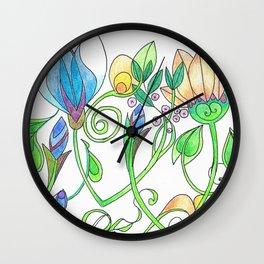 Flower Freize Wall Clock