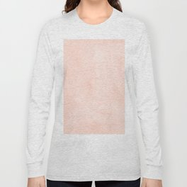 Simply Sweet Peach Coral Watercolor Long Sleeve T-shirt