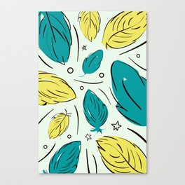 Accent Leaves Canvas Print