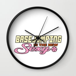 Base Jumping Sexy Jump Sky Diving Parachuting Gift Wall Clock