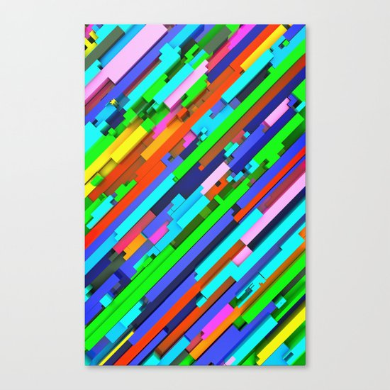 NeonGlitch 3.0 Canvas Print
