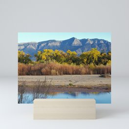Amazing Autumn Colors Bordered by Blue Mini Art Print
