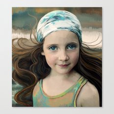 Dancer at Dusk - portrait painting of a young girl Canvas Print